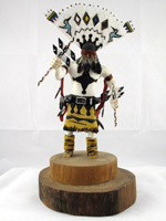 Apache Crown Dancers (Gan) Wood Sculptures