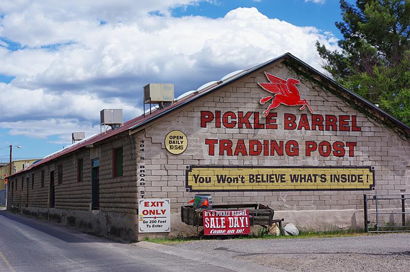 Back Exterior of Pickle Barrel Trading Post Building