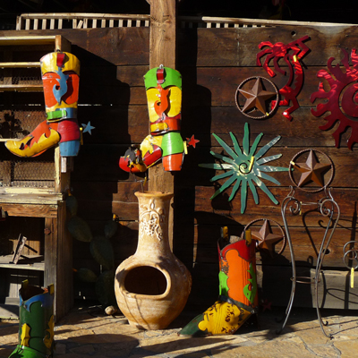 Rustic Yard Art at Pickle Barrel