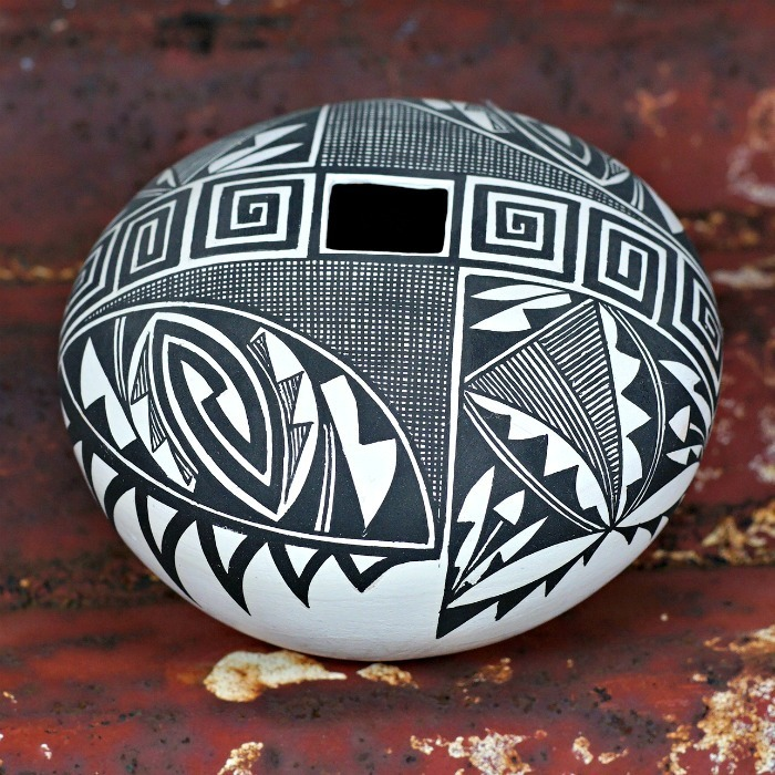 Acoma Pueblo Pottery Black and White Design