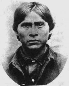 Black and White Apache Kid Portrait
