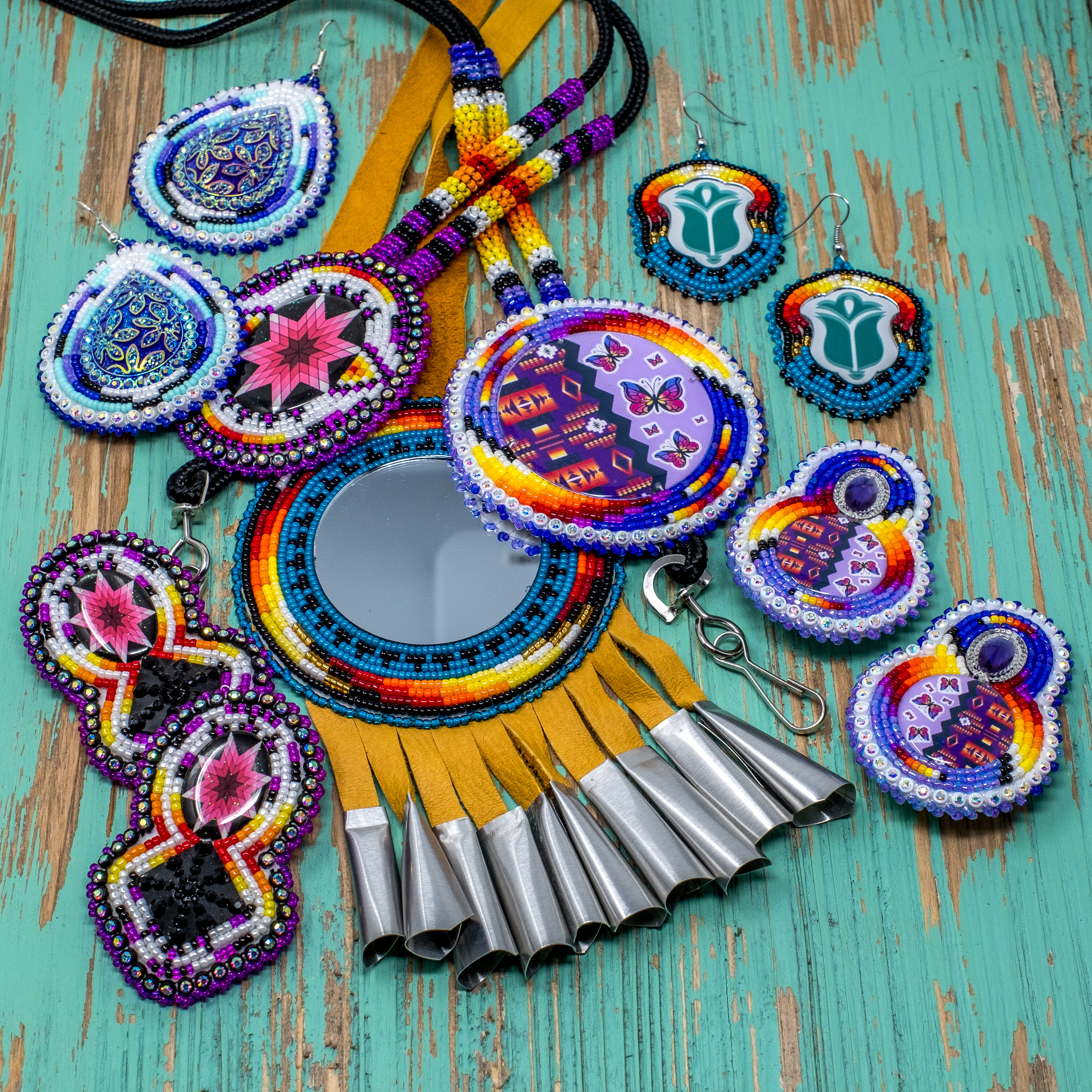 Using buckskin, beads, and 'jingles, Apache designer creates wearable art