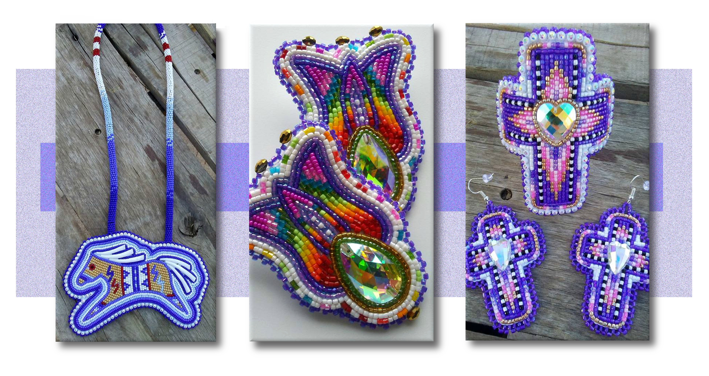 Traditional and modern examples of Apache beadwork by Delissa Hooke