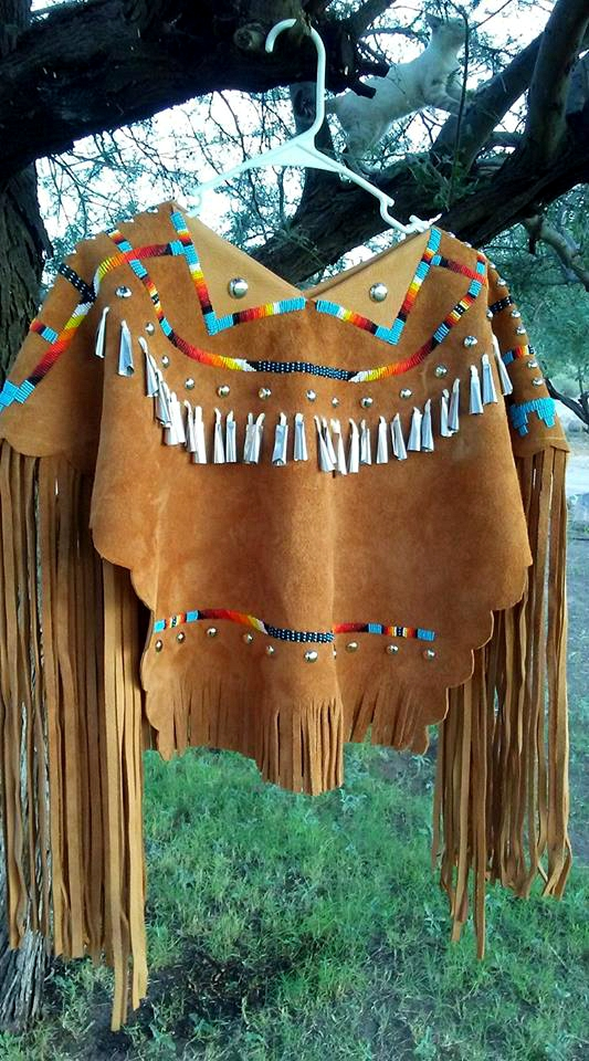 Buckskin top worn by a young girl to her Sunrise Ceremony, where she travels from youth to womanhood