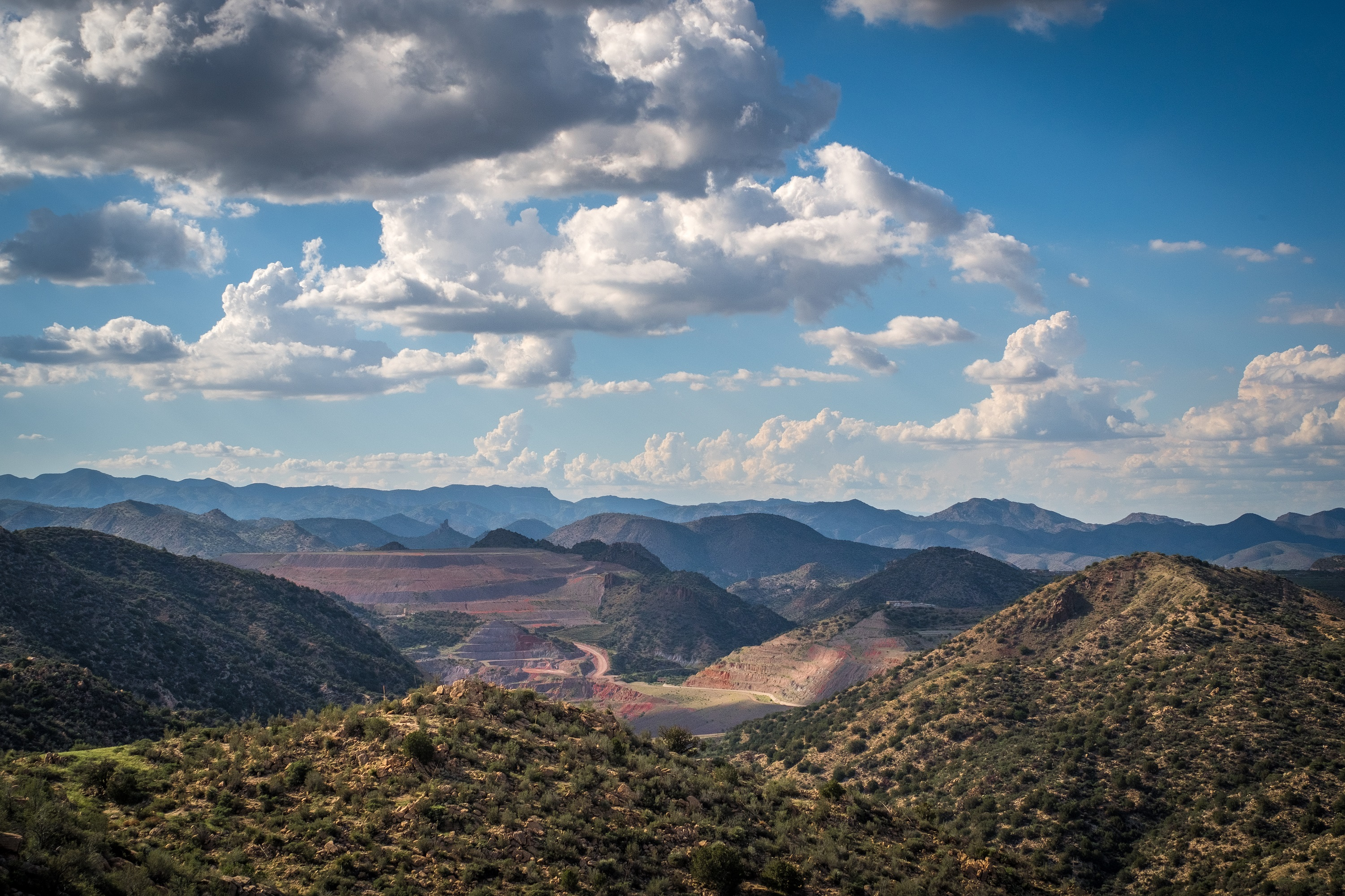 The Pinto Valley mine near Miami, Arizona, provides the world with much needed copper.