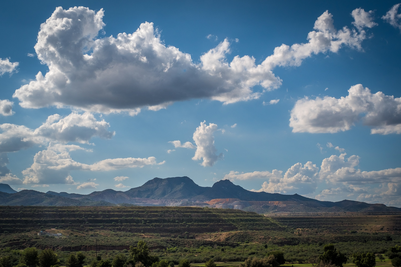The Sleeping Beauty mine in Globe, Arizona, home of desirable sky-blue turquoise.