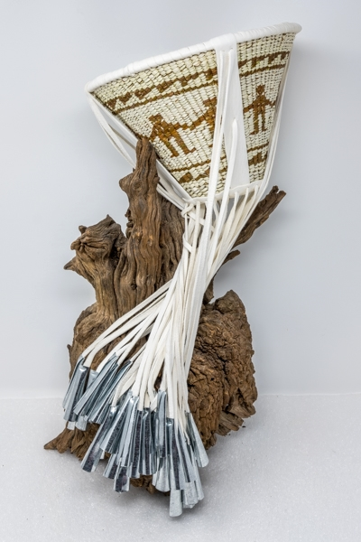 Mary Jane Dudley's 'friendship design' Apache burden basket.