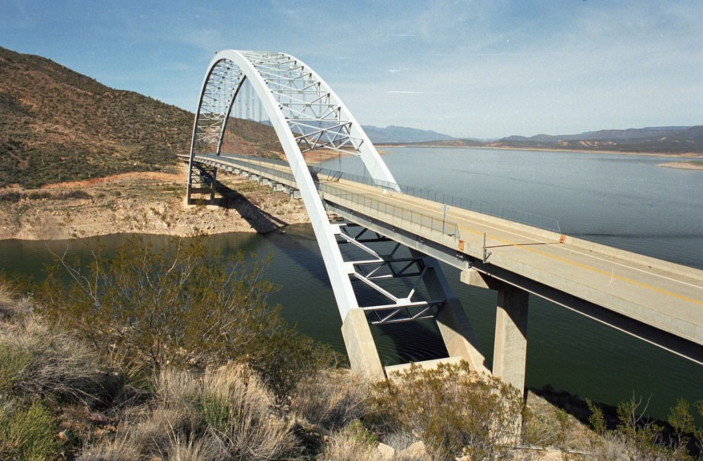 Roosevelt Lake Bridge in Arizona