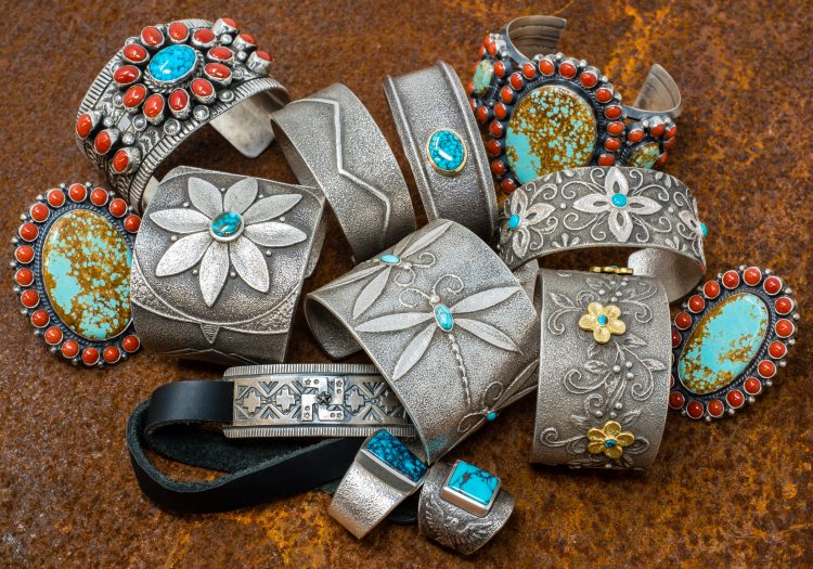 The Pickle Barrel Trading Post has a finely curated selection of Native American-made turquoise and sterling silver jewelry.