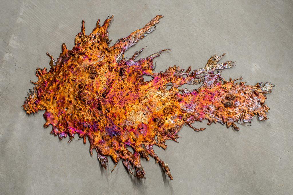 Copper splash in Globe, Arizona