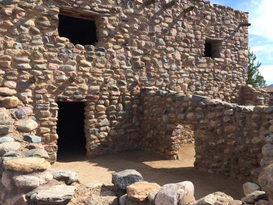 Besh ba Gowah, near Globe, Arizona, is an ancient Salado pueblo which has been restored for visitors