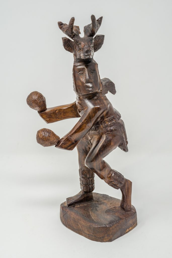 deer dancer carved of ironwood