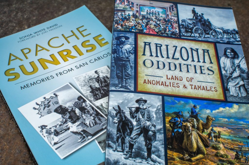 Books like Apache Sunrise and Arizona Oddities show different facets of life in Arizona